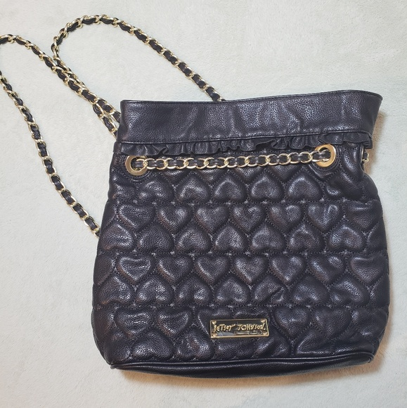 a549192fb35 Betsey Johnson Bags   Heart Quilted String Backpack   Poshmark